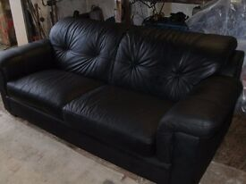 sofa leather 3 seater suite
