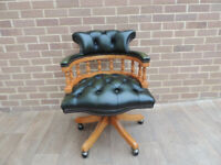 Chesterfield Leather Unique Captains Chair (UK Delivery)