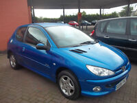 2006 06 LOW MILAGE PEUGEOT 206 LIMITED EDITION LOW MILAGE NEW MOT ONLY £1295