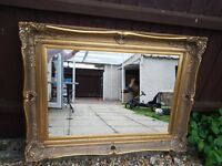 Large Antique style Golden Mirror