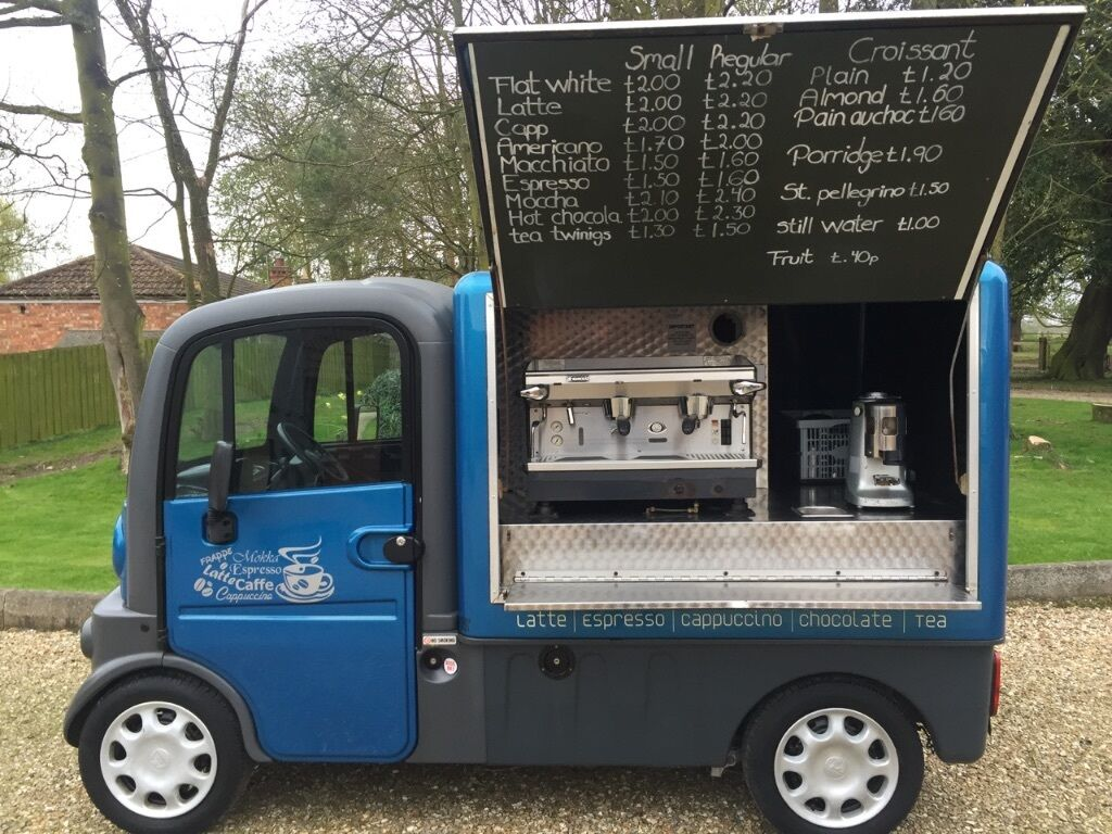 2007 07 reg aixam mega coffee truck food catering van
