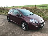 2012 Fiat Punto GBT 1.4 3dr- FULL YEAR MOT - Full Leather-Alloys- A/C (like Corsa, Fiesta, 207)