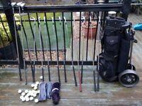 Dynacraft golf clubs and bag