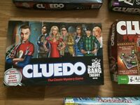 Various Cludeo games + one Monopoly city