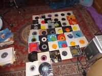 box of 45rpm records 50's/60's/70's/80's/90's approx 300+