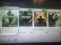 Xbox 360 with 59 games for sale