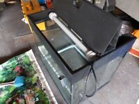 Juwel Fish Tank 55cm L 50cm H 40 cm D complete filter/ heater & accessories
