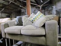 2+2 Fabric static grey sofas