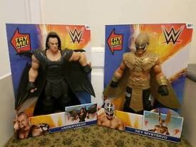 wwe action figures x2 brand new in boxes