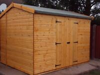 NEW 12x8FT HEAVY DUTY GARDEN TIMBER SHED APEX PREMIUM QUALITY FULLY FITTED FREE