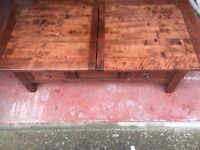 SURPERB LITTLE COFFEE TABLE- LIGHT CHESTNUT FINISH- GOOD CONDITION