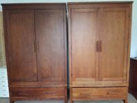 Two gorgeous solid/hard wood shaker wardrobes, House of Fraser, £120 East Dulwich