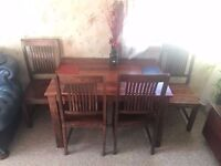 dining table wood heavy