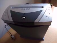 Paper shredder, electric, 5 page, little used.