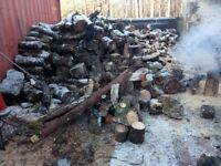 Softwood firewood trailer load
