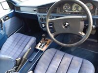 GORGEOUS Classic Mercedes 190E 1.8 auto Full history 12mths mot BEAUTIFUL APPRECIATING CLASSIC CAR !