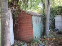 Timber garden shed. T&G boards with felt roof.
