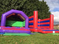 2 X Bouncy Castles - 18x14ft & 12x12ft