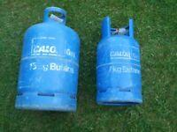 Calor Gas bottle, 15 and 7 kg. EMPTY. £15 EACH. Deposit normally £40 each.