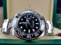 New boxed with papers 40mm dilver bracelet black dial ceramic bezel Rolex GMT Master II watch Auto