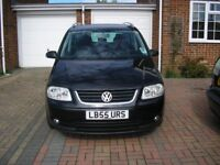 (2006) VW TOURAN 2.0 TDI SE SPORT DSG AUTO MET/BLACK 7 SEATER ( FSH 10 STAMPS GREY LEATHER SEATS)