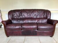 Sofa, Leather 3 Seater for Sale