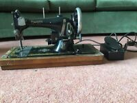 Vintage Harris Sewing Machine With Electric Foot Pedal