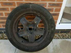Zafira spare wheel