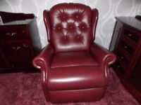 riser, reclining leather chair