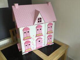 ELC Rosebud Wooden Dolls House.