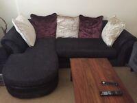 3 seater charcoal sofa