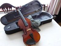 Stagg Solid Maple Full Size Violin + Soft Case + Spare Set of Tonica Strings