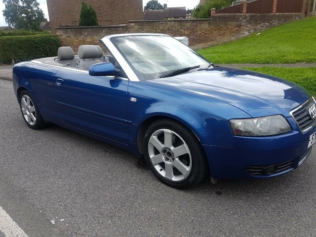 2003 audi a4 1 8t convertible blue manual 105k in. Black Bedroom Furniture Sets. Home Design Ideas