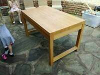 Solid Beech oiled table and 4 chairs