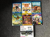 Kids movies blu ray 3d Plus 3d Glasses