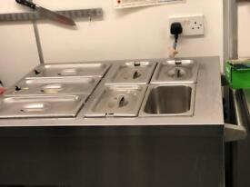 Seven Section Bain-Marie with plate oven