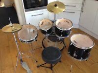 Childs five piece drum kit