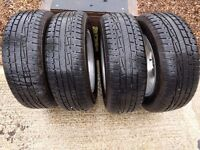 """Genuine VW alloy 16"""" car wheels and tyres, suitable for VW Tiguan"""