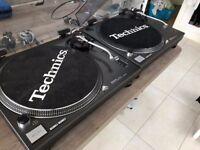 PAIR of TECHNICS 1210 MK2: With 2 Ortofon Nightclub Headshells: COLLECTION ONLY