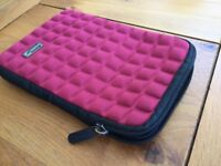 Red Ipad Mini Carry Case by Pouch (black interior)