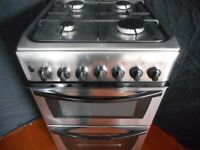 INDESIT DOUBLE ALL GAS COOKER**STAINLESS STEEL**