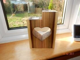 wooden handcrafted tea light candle holder FREE DELIVERY