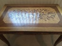 Wooden inlayed table