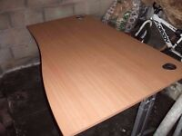 Home or Office Desk Maple Top Height Adjustable Delivery Available