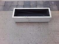 #Country Cream 600 mm long,Wooden Garden Planter, FREE LINER