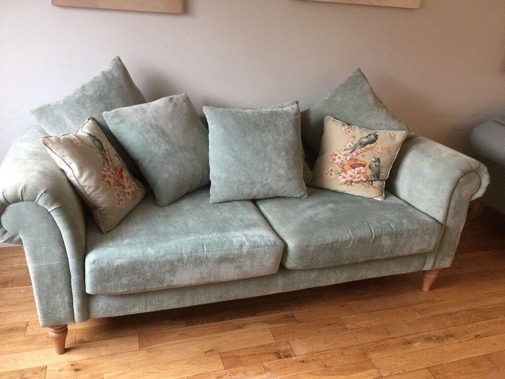 Duck Egg Chenille Sofa 3 Seater In Hutton Essex Gumtree
