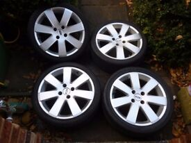 FORD FOCUS MP3 17 INCH ALLOY WHEELS AND TYRES