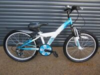 CHILDS FRONT SUSPENSION BIKE IN EXCELLENT USED CONDITION. IDEAL PRESENT.. SUIT APPROX. AGE. 6 / 7+).