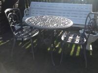 Hartman heavy cast aluminium garden bistro set