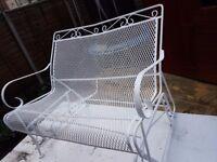 Garden glider bench